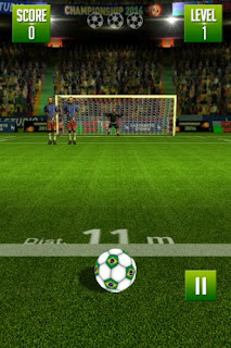 Screenshots of the Freekick World football championship for Android tablet, phone.