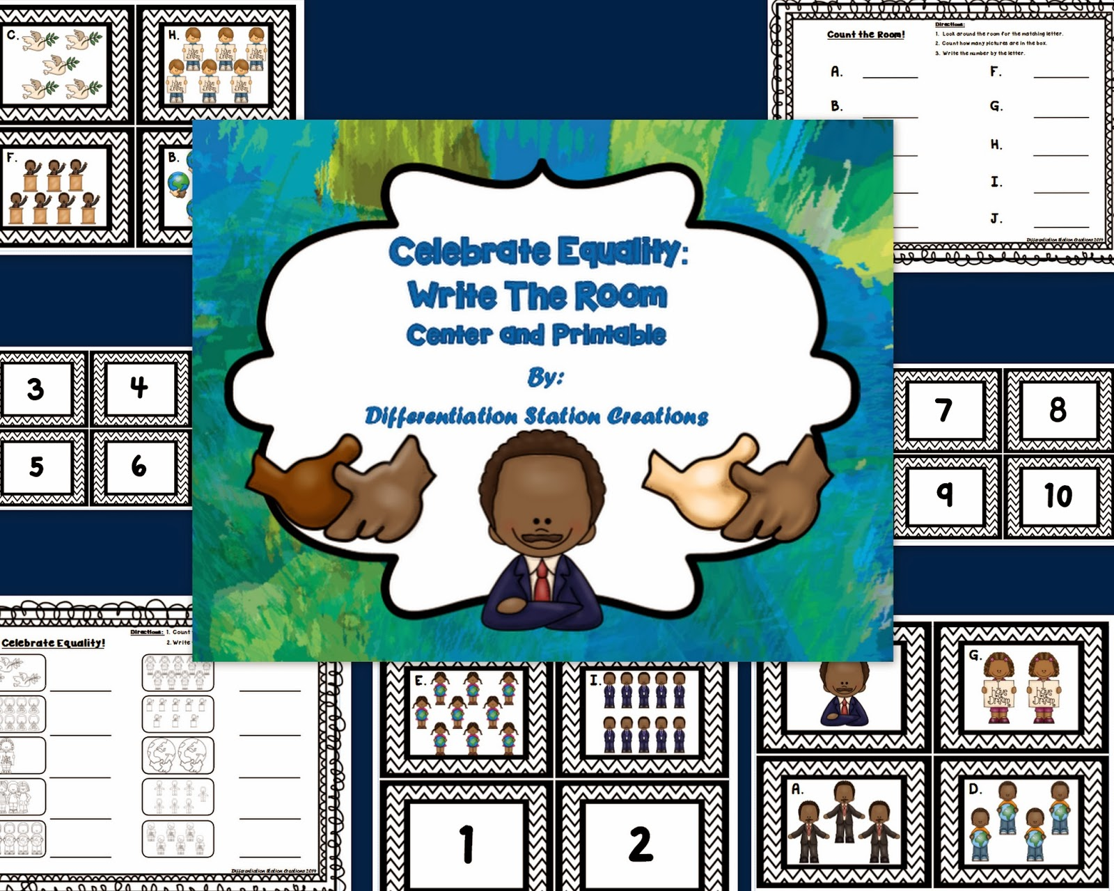 http://www.teacherspayteachers.com/Product/FREE-Celebrate-Equality-Count-and-Write-the-Room-Martin-Luther-King-Jr-1053179