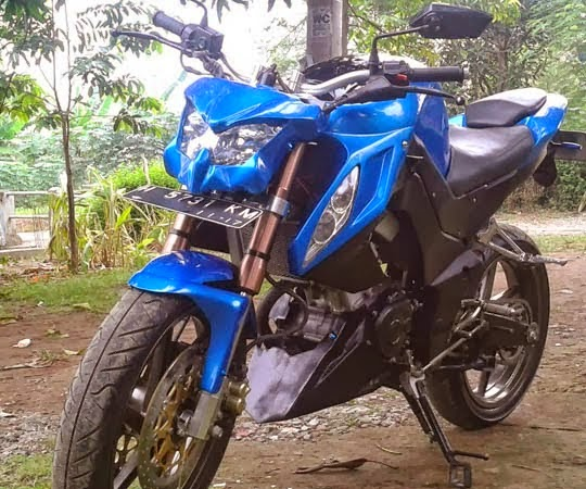 foto modifikasi motor yamaha new vixion street fighter