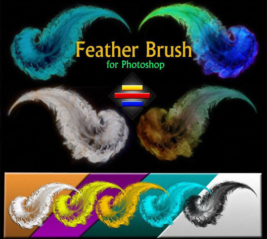 24 Free Photoshop Feather Brushes For Download