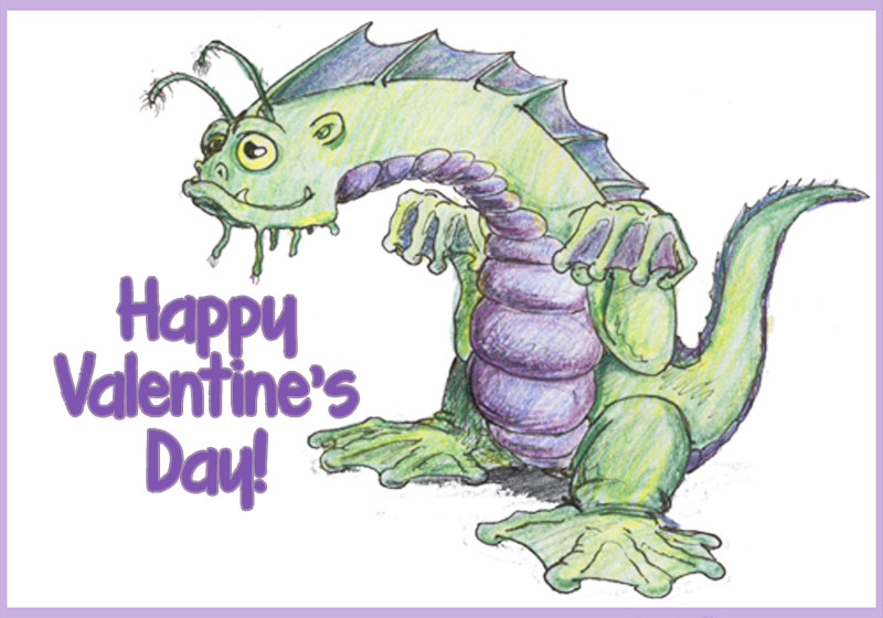 Free Printable Valentines Day Treats Part 2 by David Webb – Dragon Valentine Cards