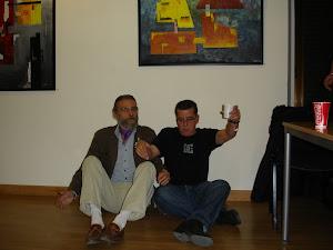 Con mi amigo David en la 1ª exposición