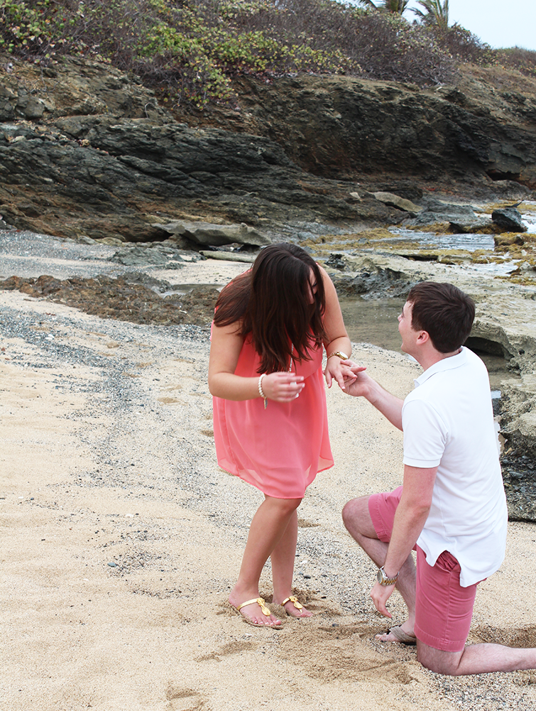 surprise beach engagement