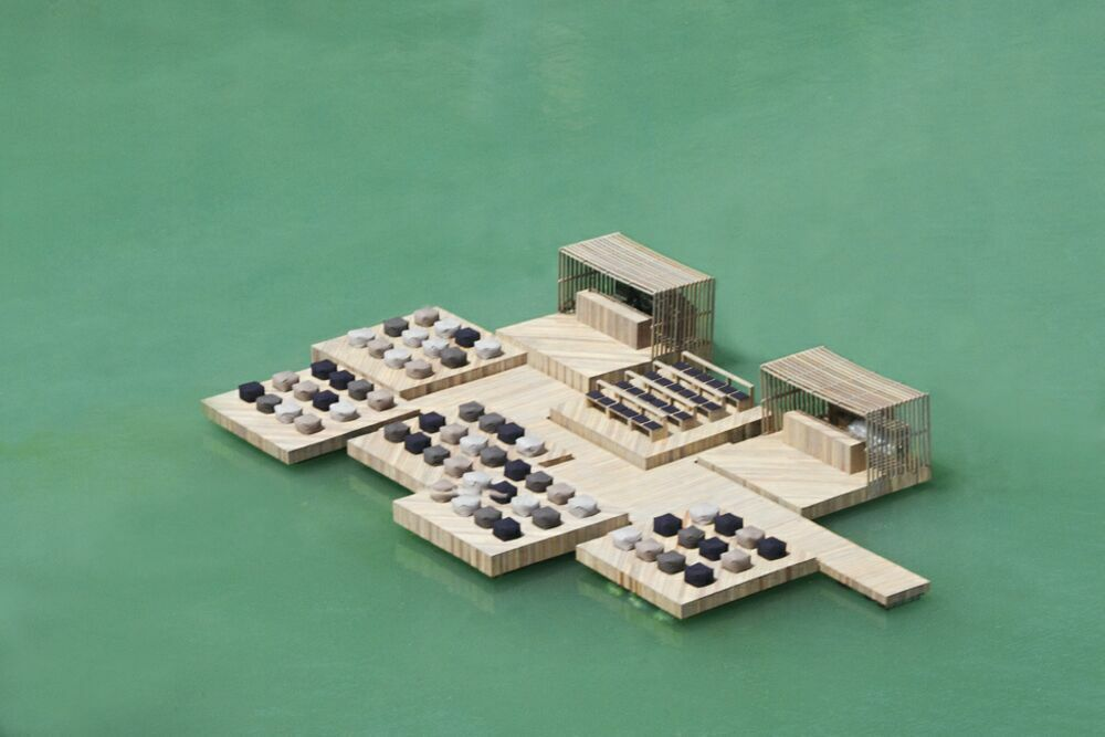 Сочетание воды и архитектуры