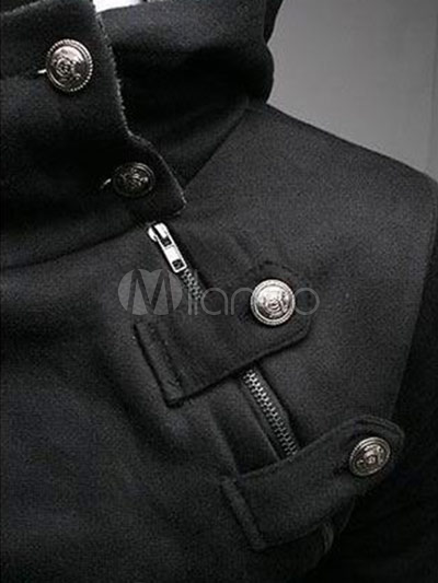 New Arrival Fashion Buttons Cotton Men's Desmond Hoodie