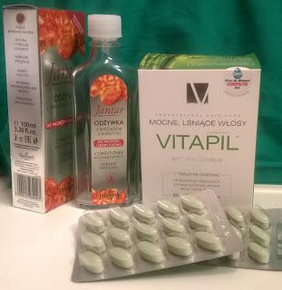 Zestaw reanimacyjny dla wosów na poczatek roku - Vitapil i Jantar