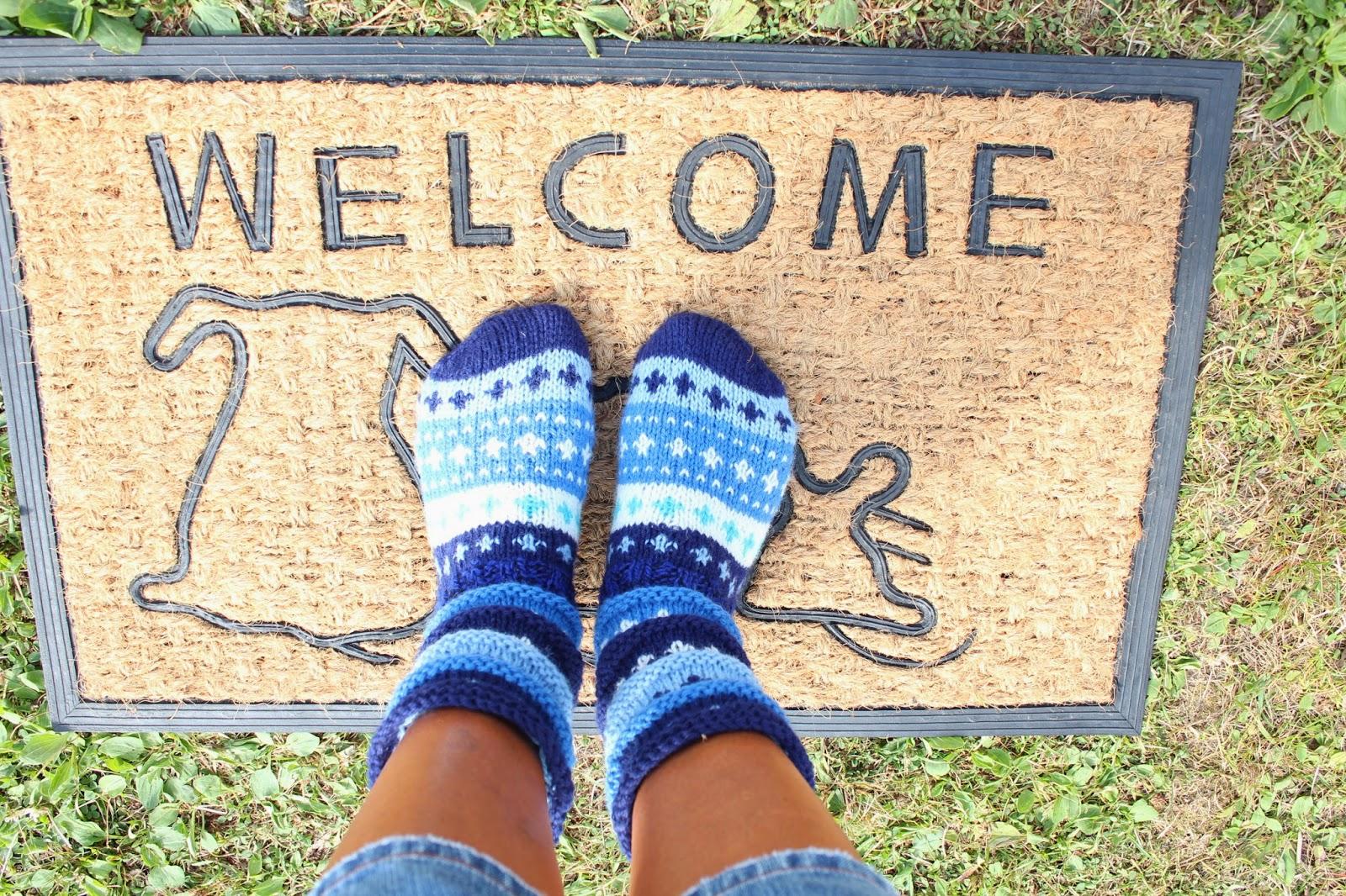 Sokker strikket fra tå til topp