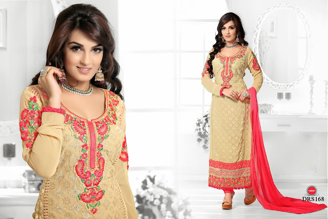 Buy Online New Chiffon Embroidery Dress Material