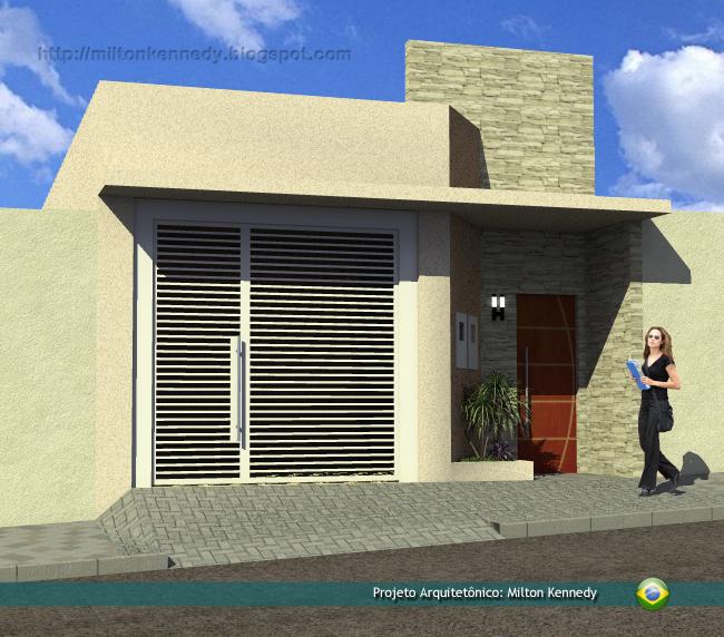 Milton kennedy projeto de casas pequenas for Diseno de frente de casa pequena