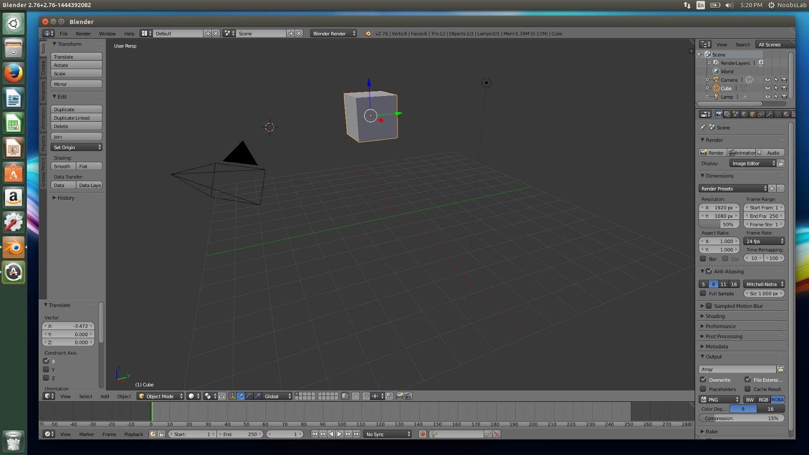 how to get obj onto grid blender