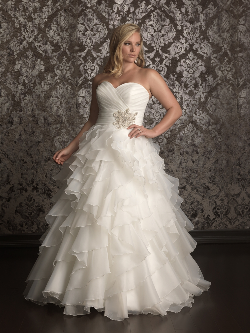 american plus size bride allure women spring 2013 bridal