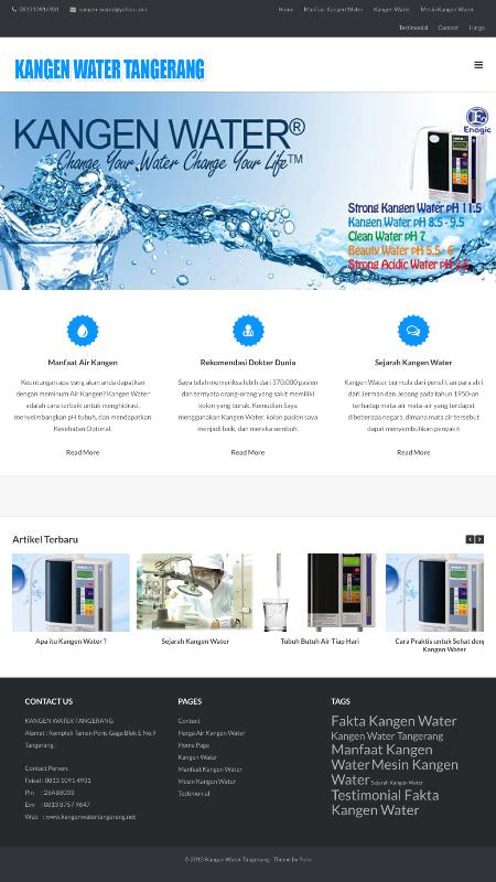 Website Jual Kangen Water Tangerang