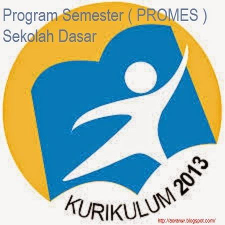 Program Semester Promes Sekolah Dasar Kelas 4 Kurikulum 2013 Berbagi Kurikulum 2013