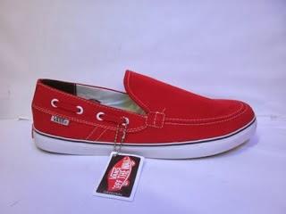 Vans Zapato Slop merah,vans casual murah,vans santai