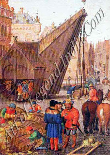 Barrels of wine, Among the many commodities entering the port of Bruges was wine by the barrel. Much of this wine was drunk by the locals themselves; average consumption of wine per head was 100 liters a year in 1420.