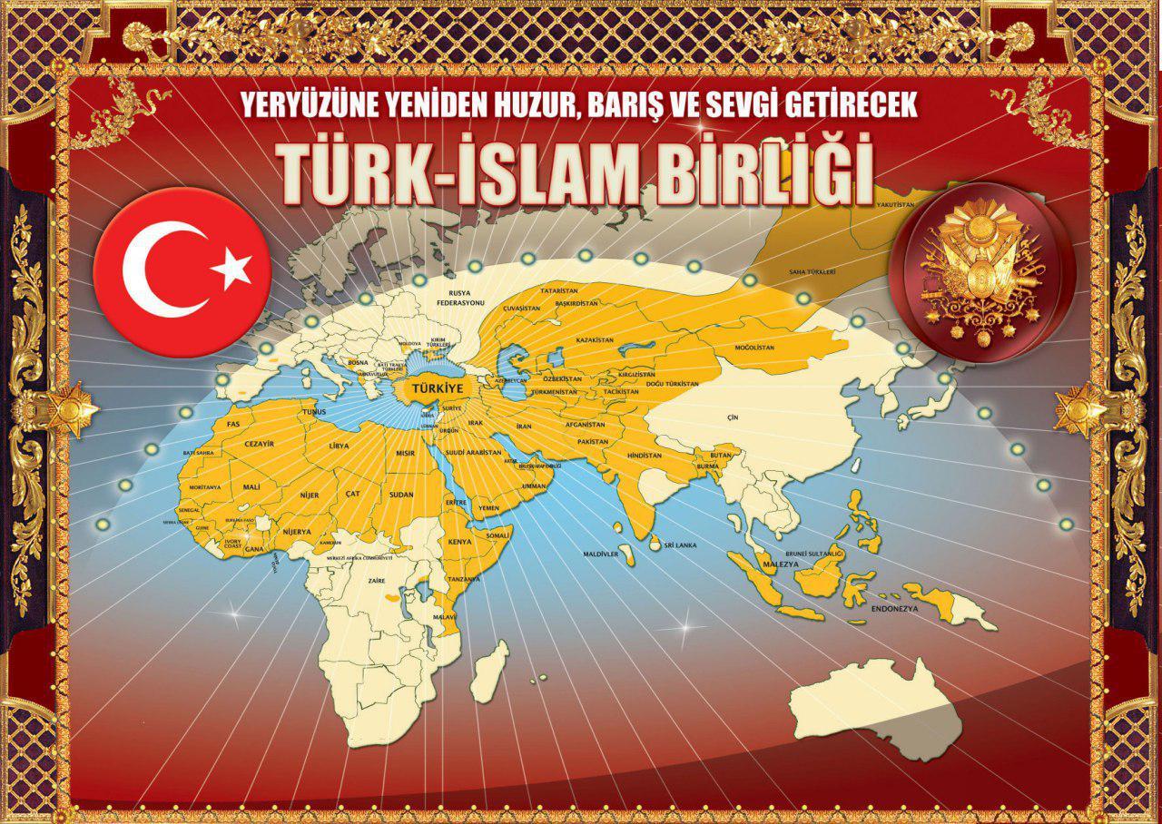 Türk İslam Birliyi xəritəsi