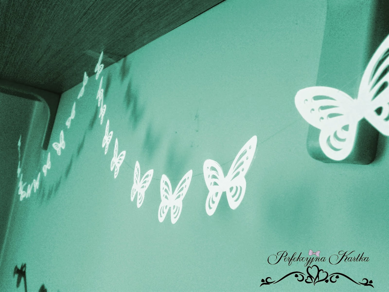 girlanda ślubna - motyle