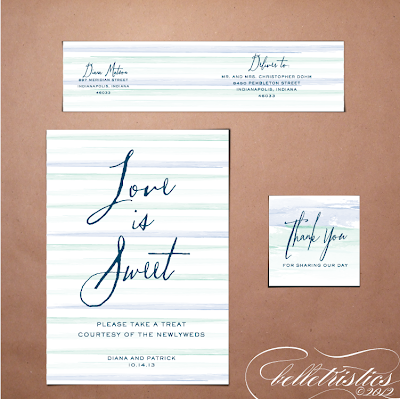 printable diy ombre water color wedding reception stationery water label