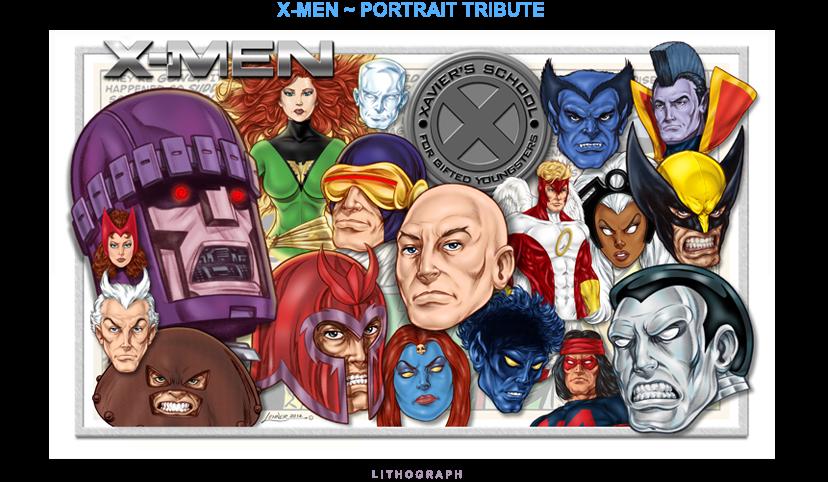 X-Men - Portrait Tribute