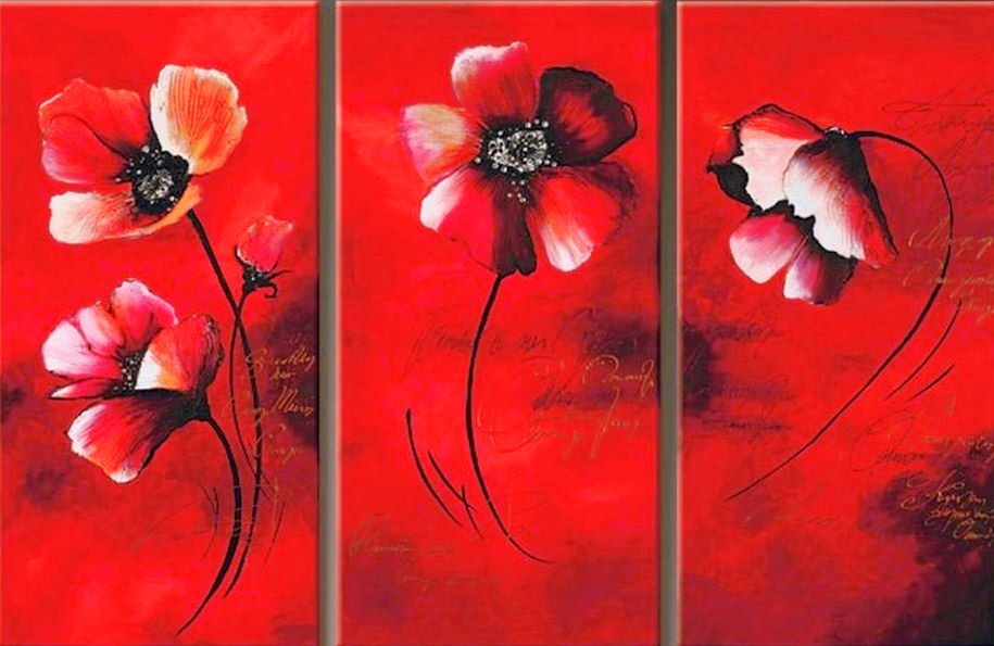 Cuadros modernos pinturas y dibujos flores - Cuadros flores modernas ...