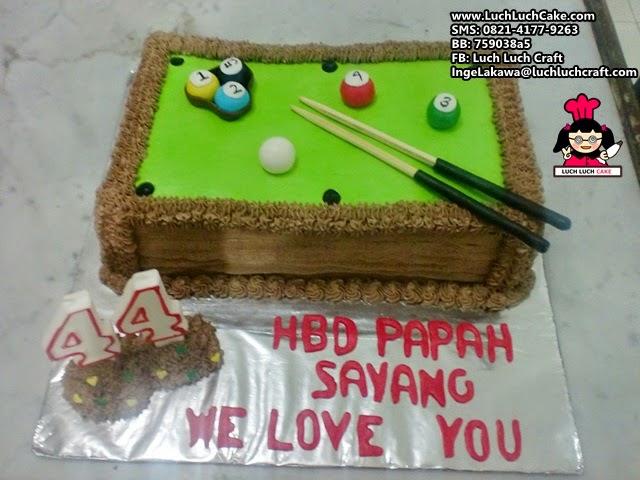 Kue Tart Billiard 3D Daerah Surabaya - Sidoarjo