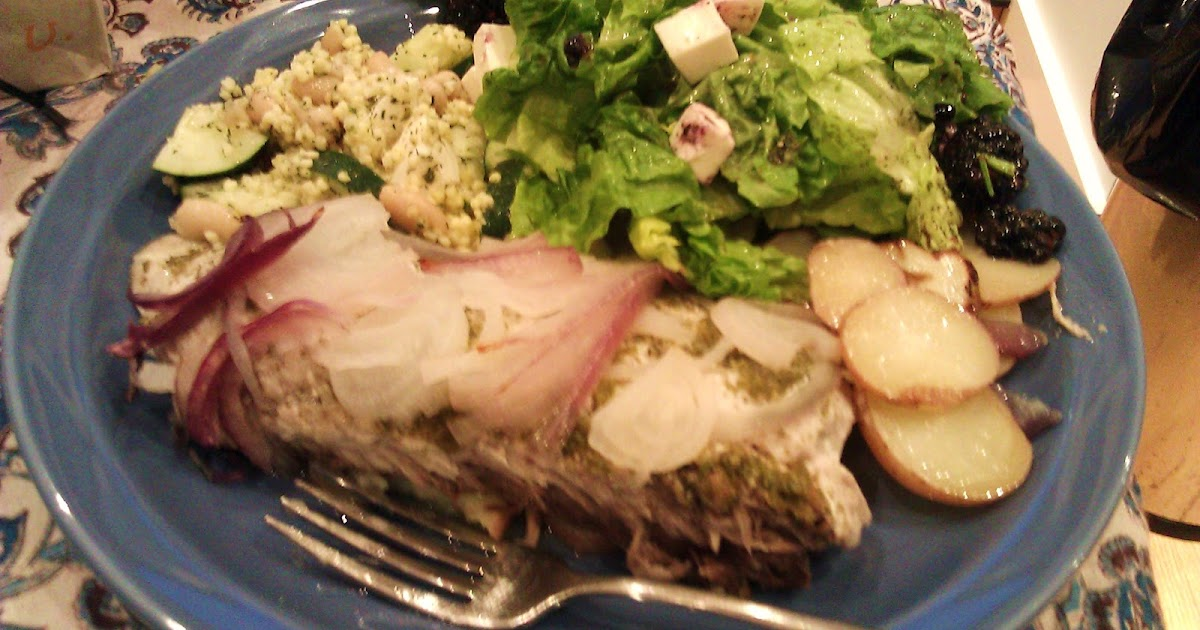 The Omnivore and the Vegetarian: BED: Baked Bluefish (or Tofu)