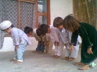 Muslim baby praying