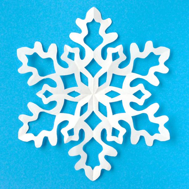 Онлайн смотреть как сделать снежинку