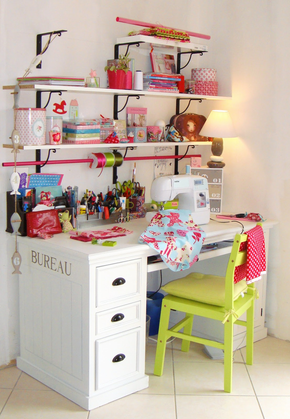 French home made craft room made in france - Muebles de ordenador ...