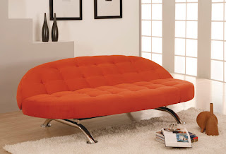 Lifestyle Solutions Capitola Casual Convertible in Copper - A Modern Living Room Furniture