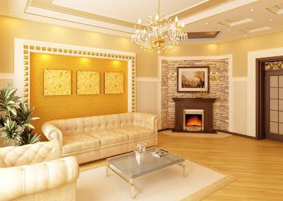 Luxury and Minimalist Living Room Interior Decorating Lighting