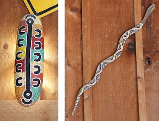 Light Fixture and Snake Art