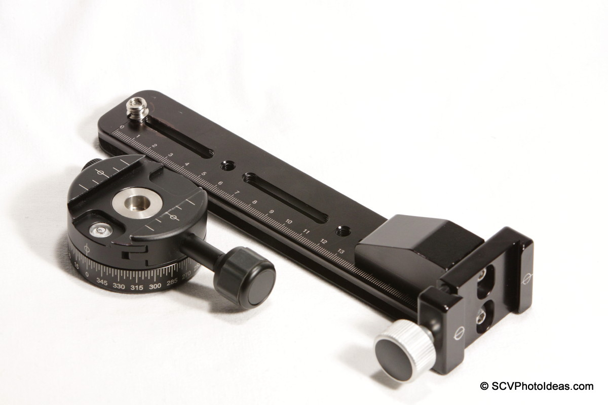Benro PC-0 Panorama Clamp + vertical rail assembly