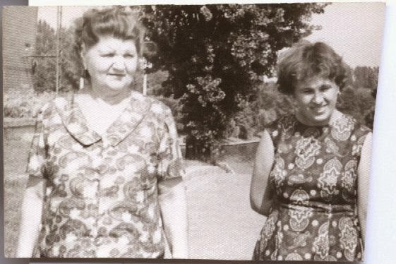 Magdalena Marcov my mother and aunt Stefania Sestocenco Bucharest '60