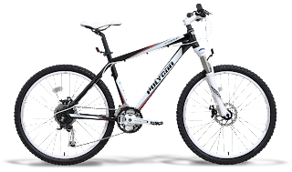 51c602468ba XTRADA 5.0 is a type of mountain bike Hardtail. This bike also comes with  discs in front and on this bike belakang.warna black and white combinations  in his ...