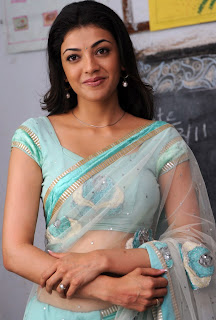 Kajal Agarwal in Cool Transparent Saree