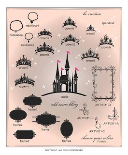 Image Vinyl decal princess decor