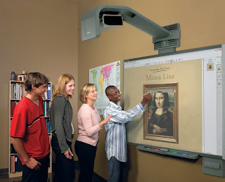 image smartboard with students