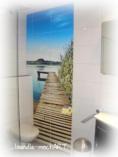 Bild für das Bad, Fliesen überkleben