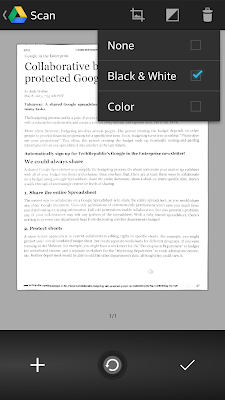 seleccionar el tipo de color del documento a escanear