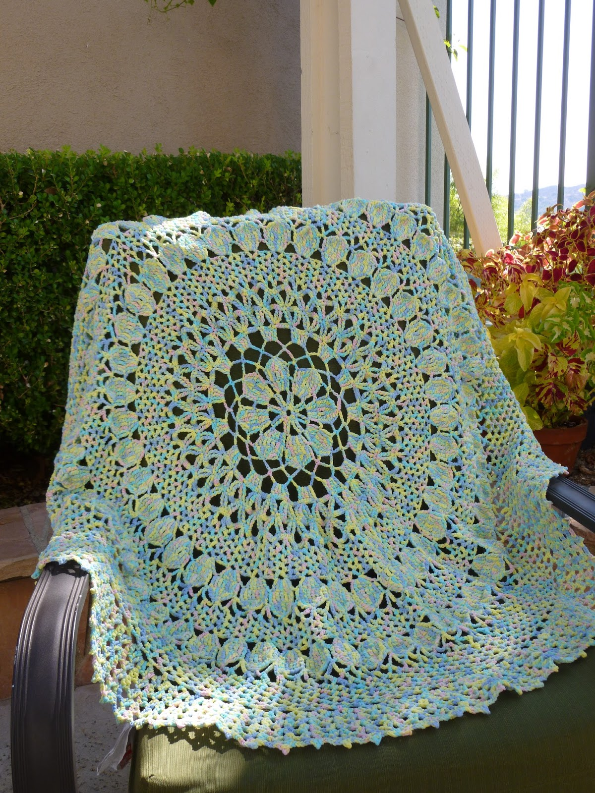 Crochet Pattern For Chevron Baby Afghan : Lilly My Cat: Vintage Style Lacey Crochet Baby Blanket