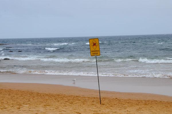 dangerous current sign