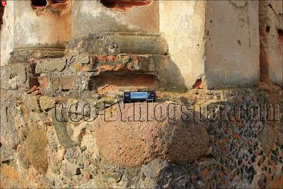 Замер радиационного фона руин в Лютино