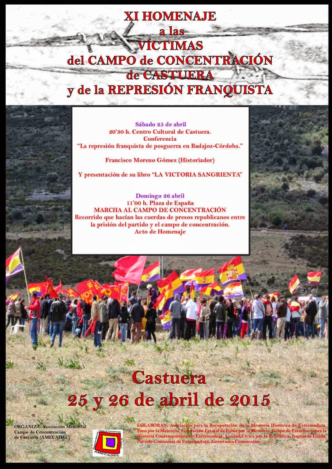 XI HOMENAJE A LAS VÍCTIMAS DEL CAMPO DE CONCENTRACIÓN DE CASTUERA Y DE LA REPRESIÓN FRANQUISTA