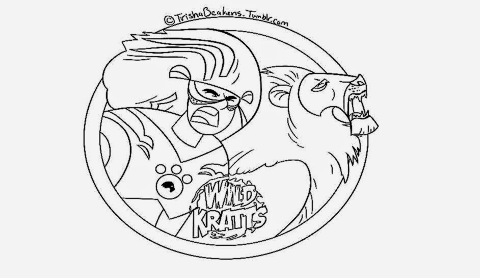 wild kratts coloring pages free coloring sheet