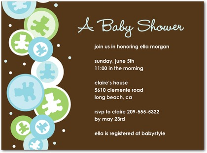 wedding invitations and baby shower invitations share: Boy Baby