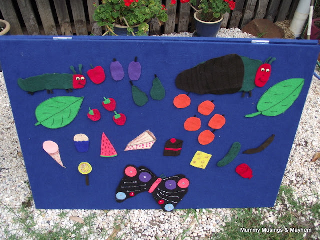 Toddler Hungry caterpiller felt story