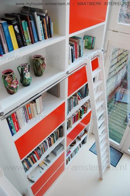 My house amsterdam moderne houten boekenkasten - Eigentijdse boekenkasten ...