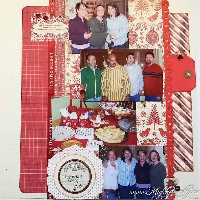 Sketch 'N Scrap December Layout --- www.MightyCrafty.me