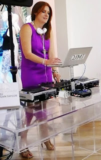 LOFT Girl and DJ, Megan Taylor, get the party rocking.
